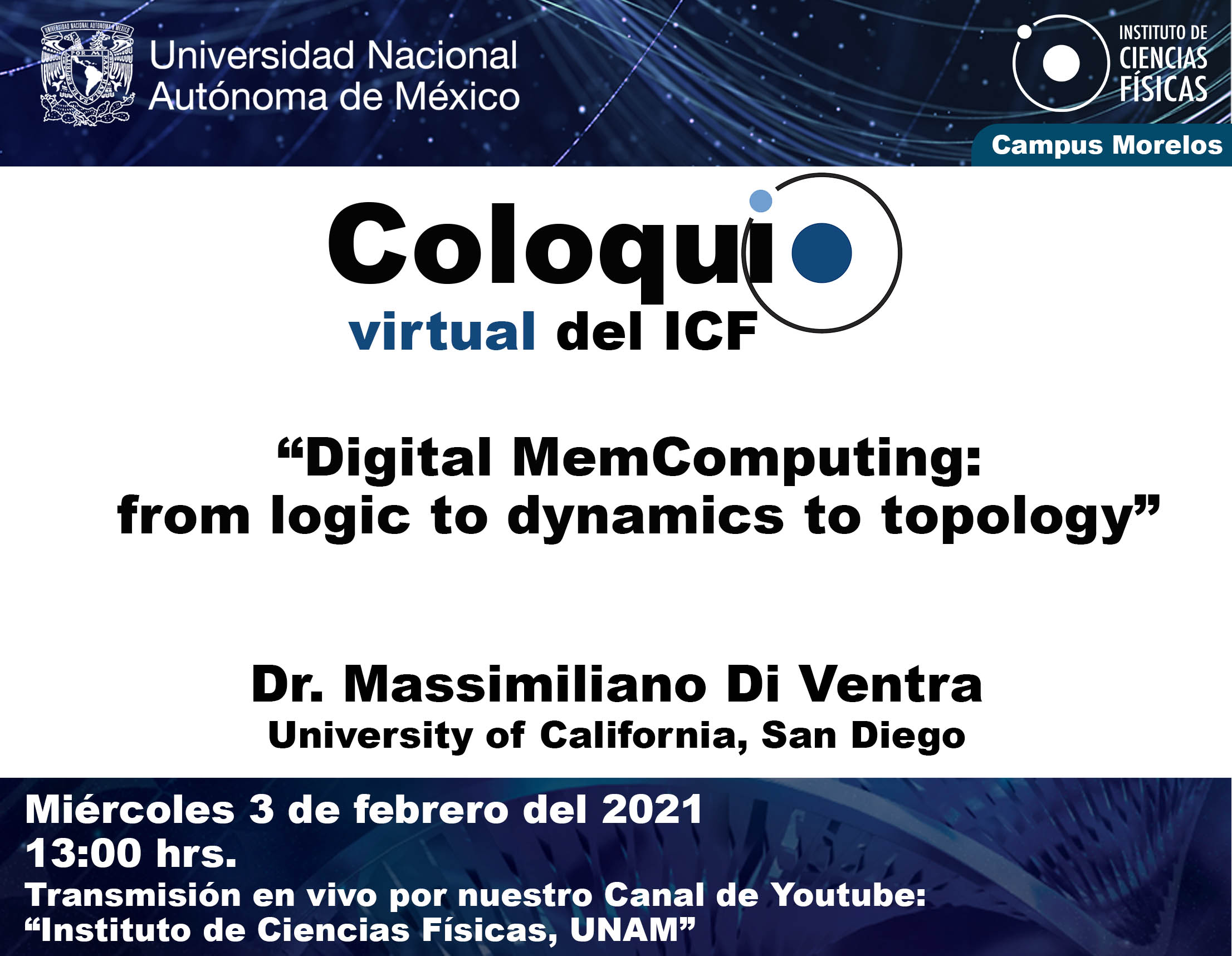 """Digital MemComputing: from logic to dynamics to topology"""